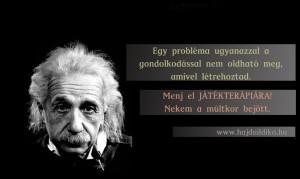 Játékterápia Einsteinnel