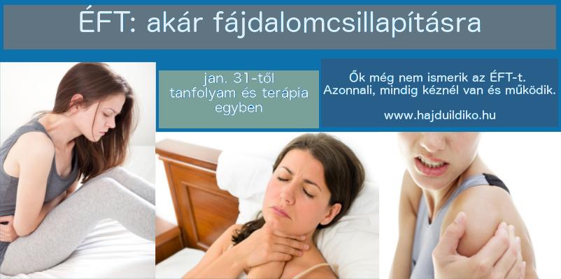 ÉFT fájdalom csillapítására