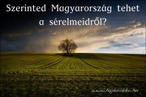 Távol Magyarországtól. Szerinted Magyarország tehet a sérelmeidről?