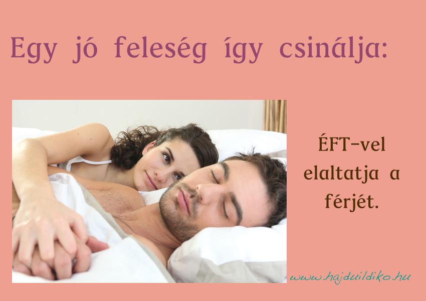 A kopogtatástól megnyugszik az idegrendszer és jöhet a pihentető alvás.