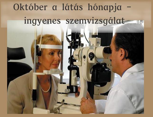 Ingyenes szemvizsgálat - Október a látás hónapja d58d3237af