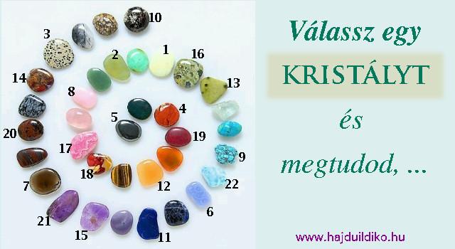 Válassz egy kristályt és megtudod, hogyan állj a Karácsonyhoz. 22 ásvány és a tarot kártya segít ebben.