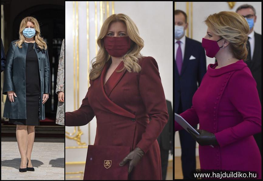 A szlovák miniszterelnök asszony megértette az idők szavát Néhány nap alatt az outfit-je részévé tette a maszk viselését. Már ez is sikert és elismerést hozott neki. Ebben még nincs semmi különös. De volt egy zseniális húzása. Minden gyönyörű ruhájához varrt / gyanítom varratott egy színben megfelelő maszkot. Bíbor ruha, bíbor cipő, bíbor maszk. A divat és a politika általában halad a korral. Itt a kettő találkozott.